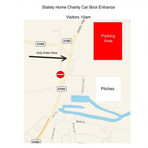 Long melford Stately Home Charity car Boot  Entrance Info